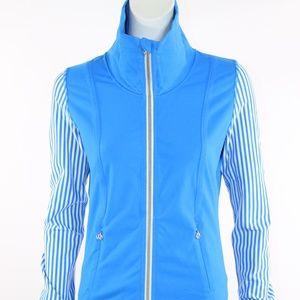 Lululemon Polar Stripe Jacket-Beaming Blue Sz. 6